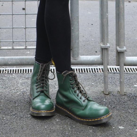 b742933e9 Dr. Martens Shoes | Dr Marten Forest Green 1460 | Poshmark